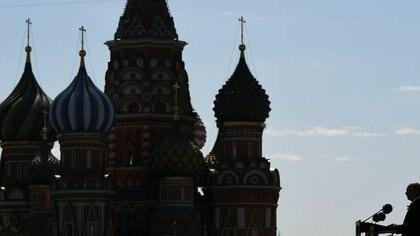 El presidente ruso, durante un acto en la Plaza Roja de Mosú (Reuters)