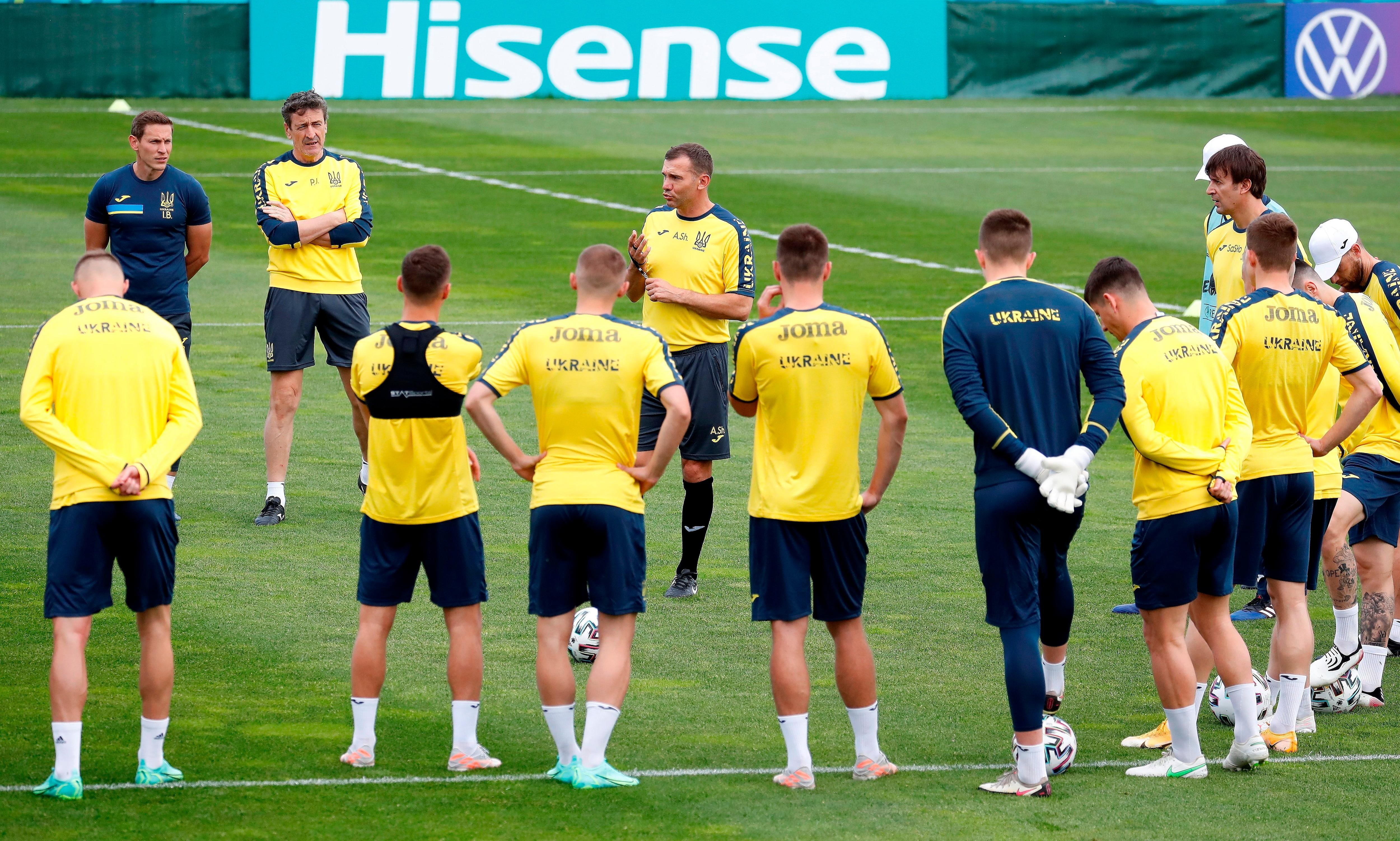 Ucrania se prepara para el debut en la Eurocopa(EFE)