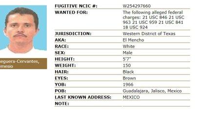 """Nemesio Oseguera Cervantes , alias """"El Mencho"""" (Foto: Especial)"""
