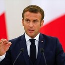 IMAGEN DE ARCHIVO: El presidente de Francia, Emmanuel Macron, hablando en una conferencia de prensa en Vilna, Lituania. 28 de septiembre, 2020. REUTERS/Ints Kalnins