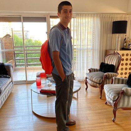 Dieguito Latorre, en 4to año del secundario (Instagram)