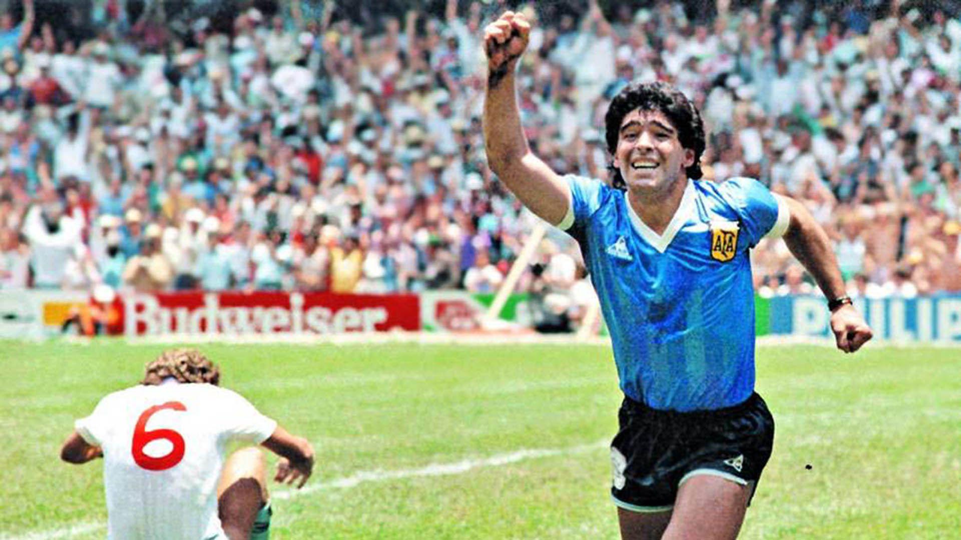 Diego y el festejo de La Mano de Dios contra Inglaterra