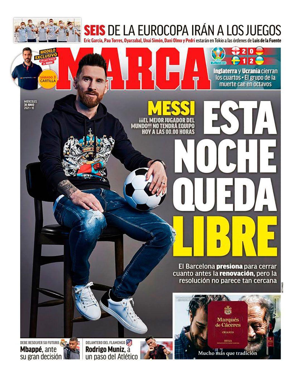 tapa de Marca sobre Messi