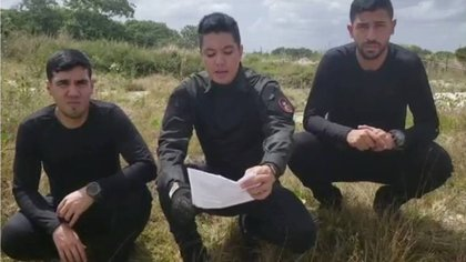 Josué Abraham Hidalgo, Franklin Caldera y Ruso Cárdenas de la Operación Aurora
