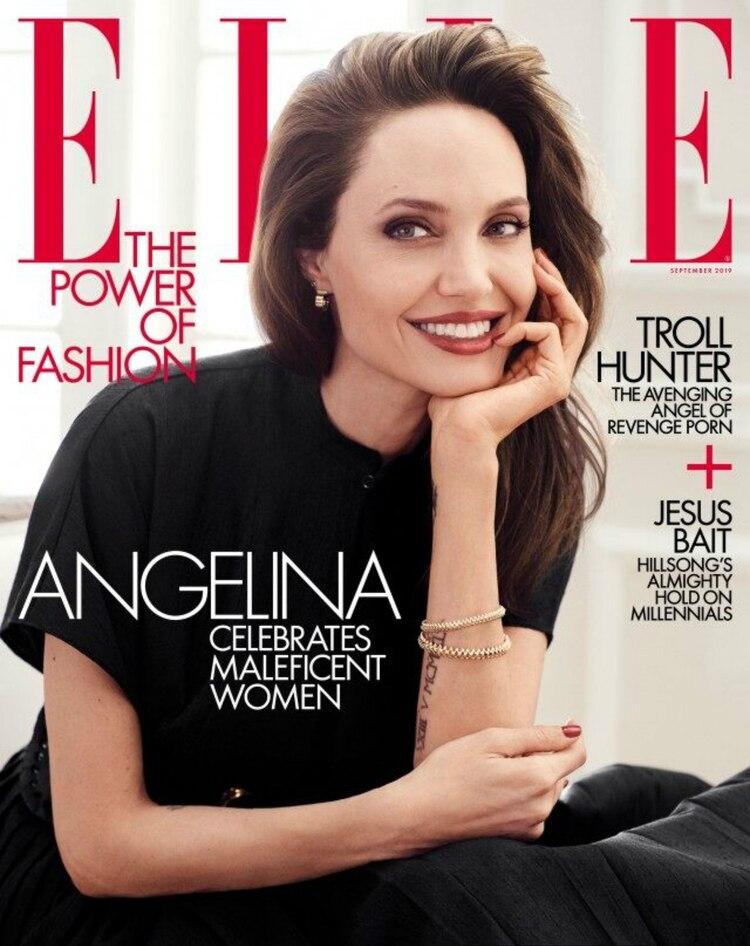"""Jolie es figura en el número de septiembre de """"ELLE"""""""