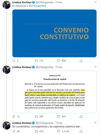 La publicación en la que repasa el Convenio Constitutivo del FMI