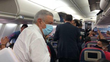 El presidente de México, Andrés Manuel López Obrador, llegó este martes por la noche a Washington (Foto: Especial)