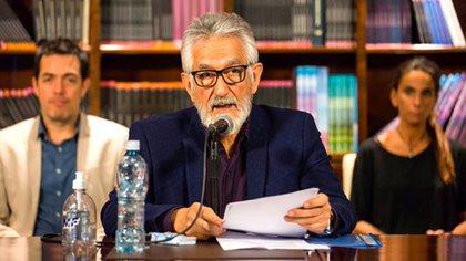 El gobernador de San Luis, Alberto Rodríguez Saá, uno de los candidatos a la presidencia del PJ (@alberto_rsaa)