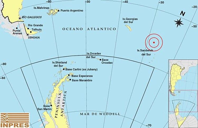 Un Sismo De 6 4 Afecto A Las Islas Sandwich En El Sur Del Oceano
