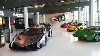Historia y presente conviven en el Museo Lamborghini.
