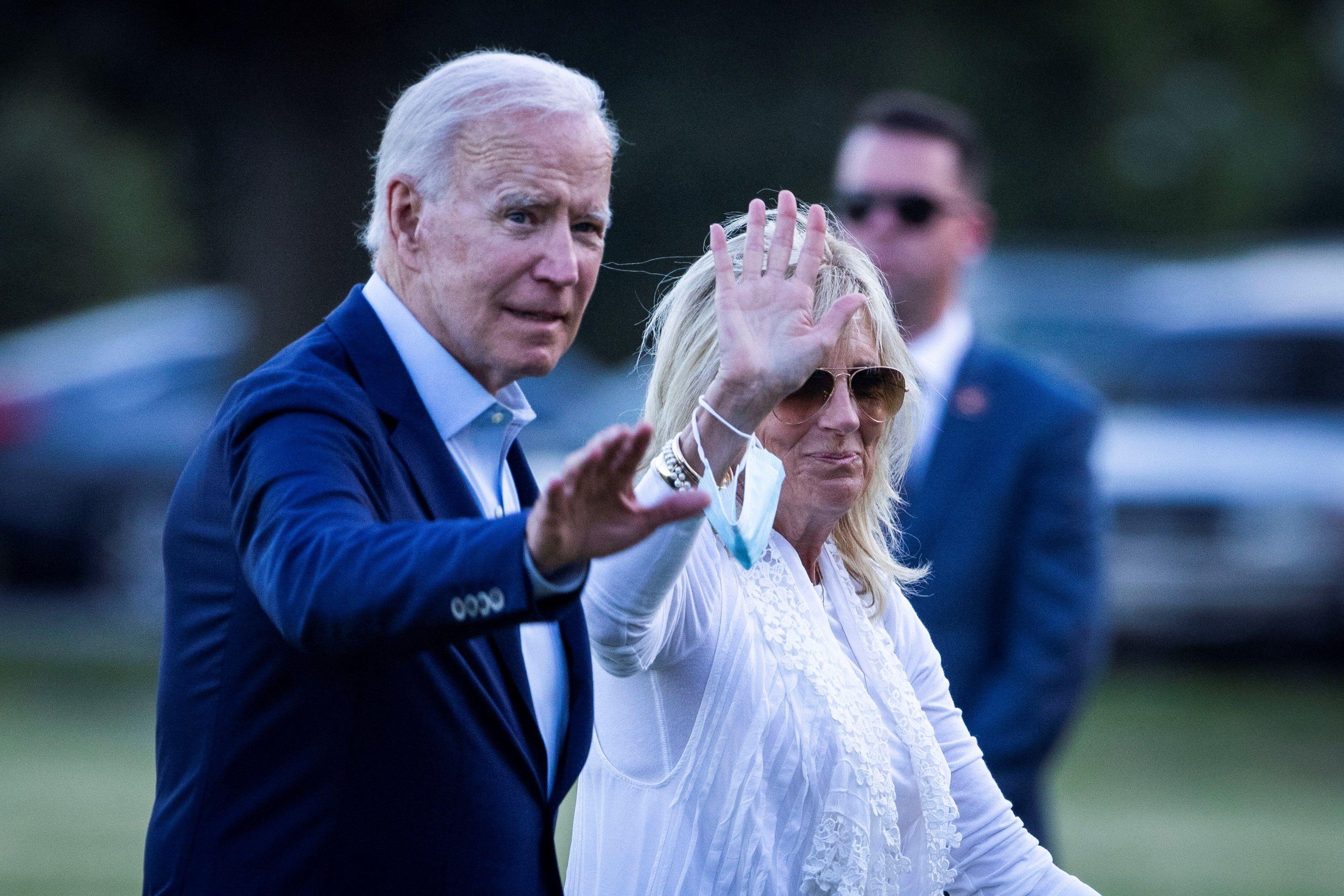 El presidente de Estados Unidos, Joe Biden, y su esposa Jill (Foto: EFE)