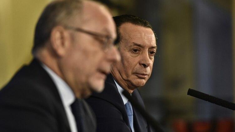 Jorge Faurie y Dante Sica, dos ministros clave en la negociación de un eventual acuerdo con Estados Unidos