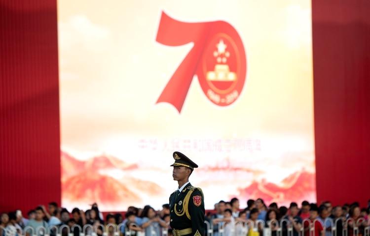 Se espera que las celebraciones por el 70° aniversario de la República Popular China sean gigantescos (NOEL CELIS / AFP)