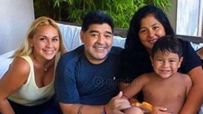 Verónica Ojeda, Diego Maradona y Dieguito Fernando