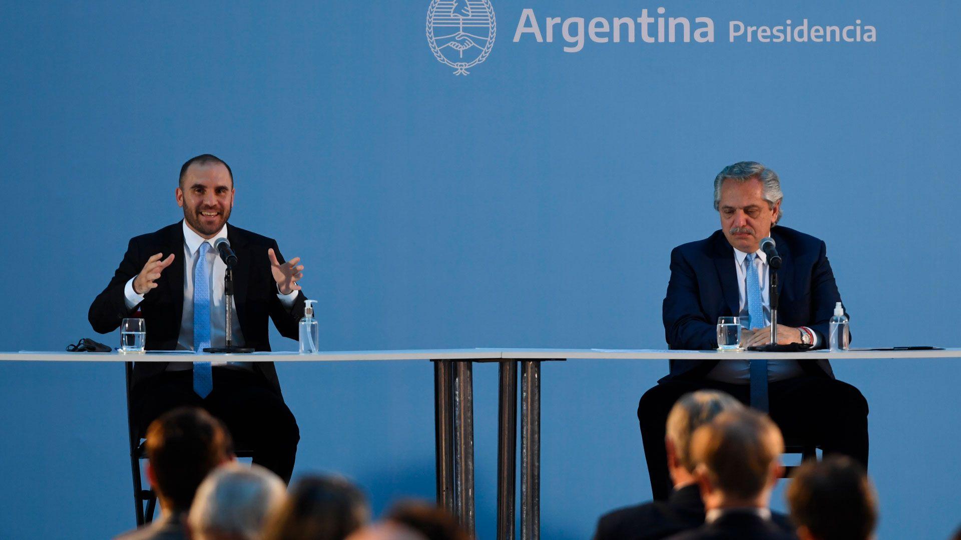 Presentacion del Plan Gas Ar Gas.AR Alberto Fernandez y Martin Guzman