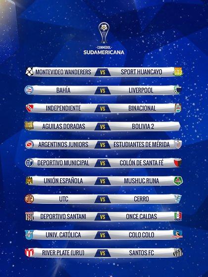 Fase 1 Copa Sudamericana 2019