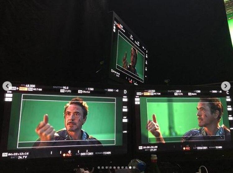 El actor Robert Downey Jr compartió 10 fotografías con el momento en que chasqueó sus dedos en Avengers: Endgame (Foto: Robert Downey Jr)