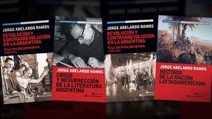 Algunos de los títulos reeditados por Peña Lillo en 2013. El primero, La Era del Peronismo, está prologado por Ernesto Laclau