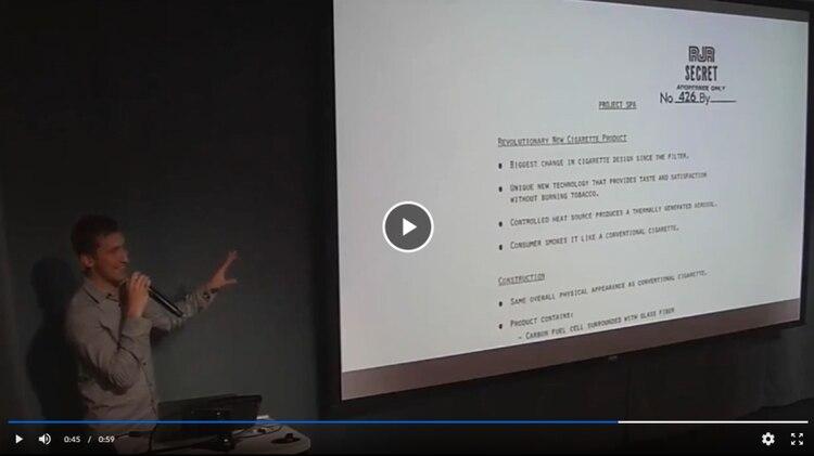 El video de 2016 que mostraba a James Monsees hablando de la relación entre los productos de Juul y los de una tabacalera tradicional fue eliminado de YouTube. (Los Angeles Times)