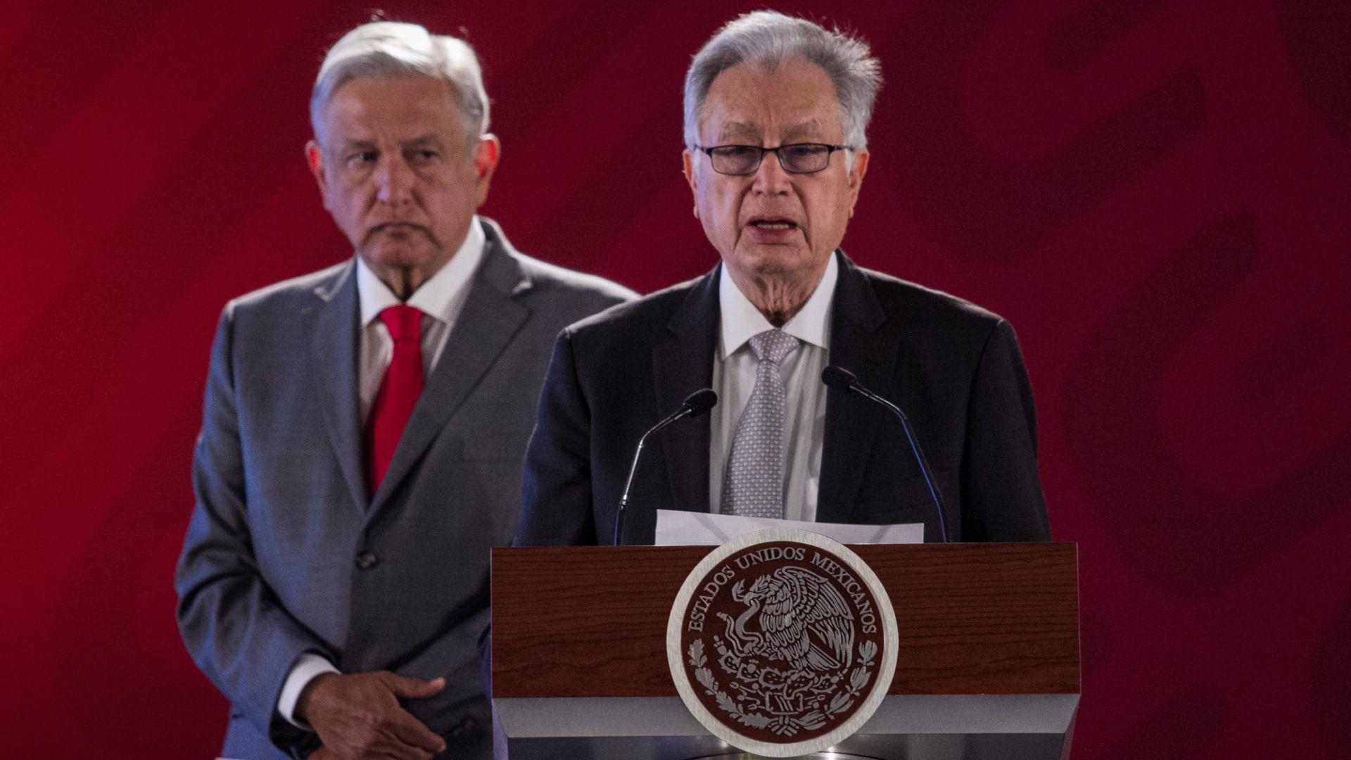 Andrés Manuel López Obrador, presidente de México, y Manuel Bartlett, director de la CFE (Foto: Cuartoscuro)