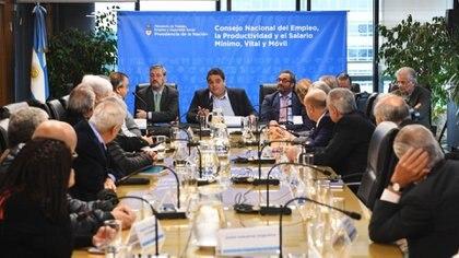 Jorge Triaca presidió las deliberaciones del Consejo del Salario en 2018