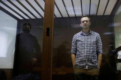 FOTO DE ARCHIVO. El opositor ruso Alexei Navalny asiste a una vista judicial en Moscú, Rusia. 20 de febrero de 2021. REUTERS/Maxim Shemetov