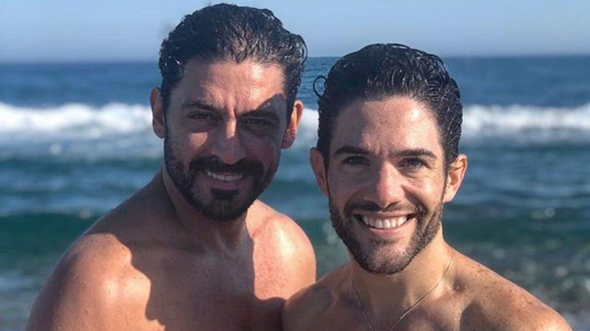 La emoción de Hernán Piquín con el saludo de su novio Agustín Barajas