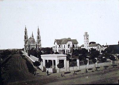Casa de la familia Guerrero, en Barracas, cuando ya existía la  iglesia Santa Felicitas.