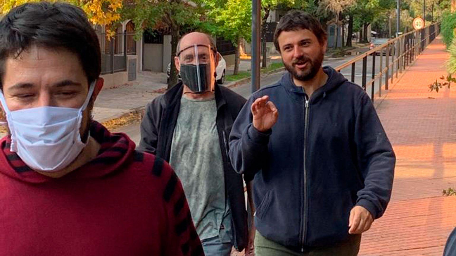 Juan Grabois al llegar a la Quinta de Olivos