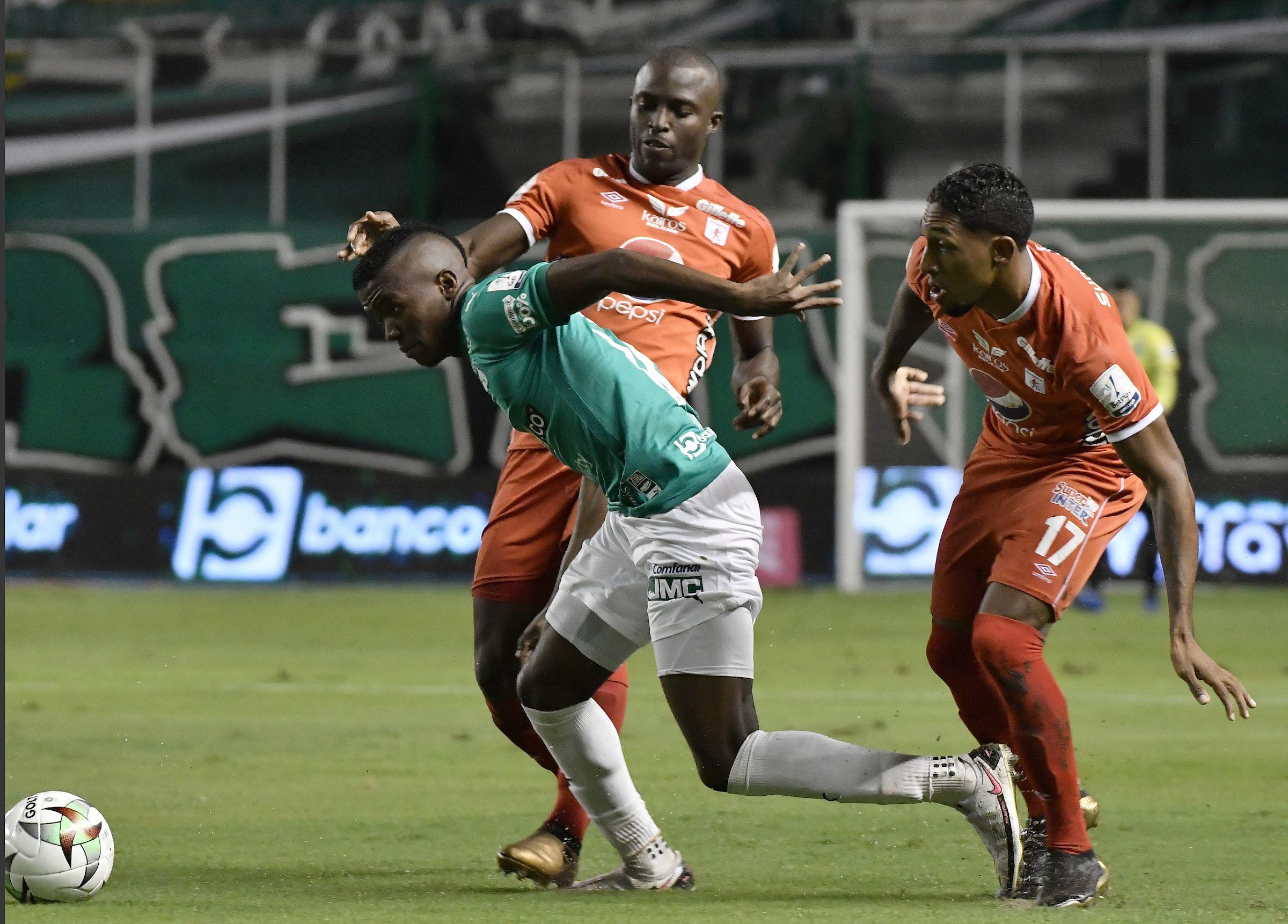 CALI. 11 de marzo de 2021. Deportivo Cali perdió 0-2 con América en el estadio de Palmaseca, en juego válido por la fecha 12 de la Liga BetPlay. (Cortesía Dimayor)
