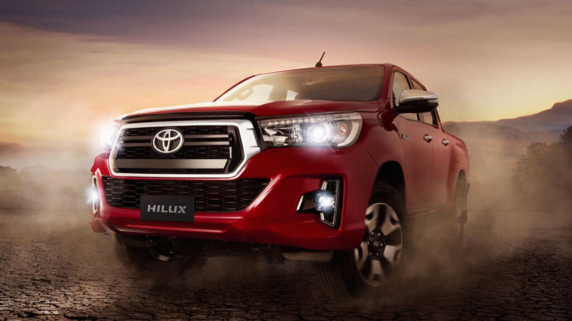 La Toyota Hilux acostumbrada al podio en los últimos tiempos. Sin embargo cayó un 34,2% respectode igual período de 2018