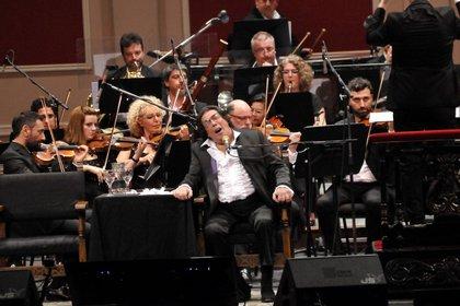 Durante su presentación en el Teatro Colón (Verónica Guerman)