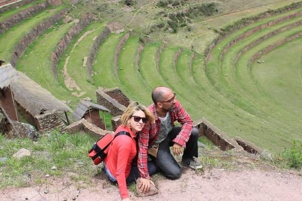 Paula y Gonzalo durante ese viaje a Perú