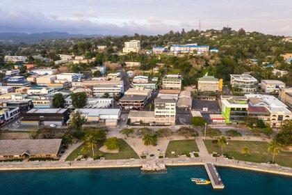 La costa de Port Vila, capital de Vanuatu (Shutterstock)