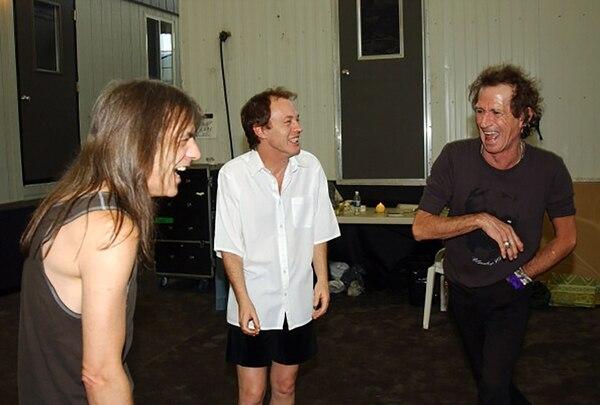 Junto a Keith Richards