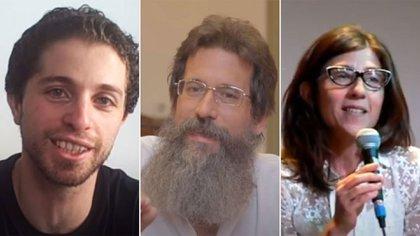 Eduardo Rinesi, Diego Singer y Natalia Romé  (Youtube)