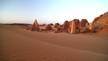 Las famosas pirámides de Meroe, en el norte de Sudán