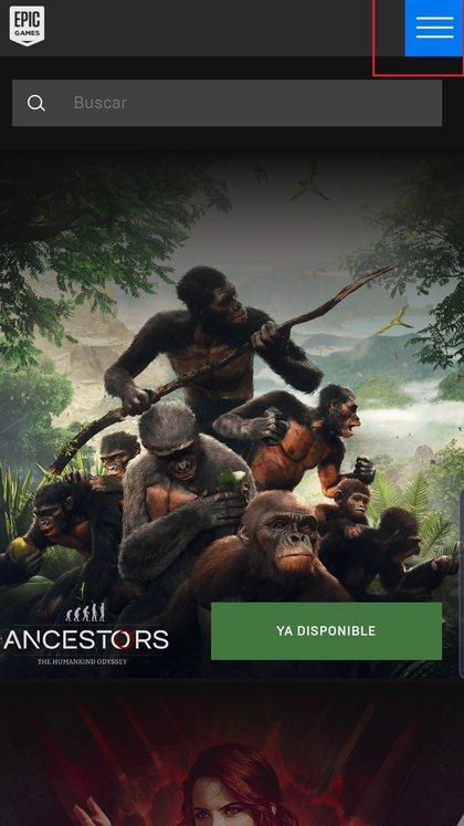 Dentro del sitio de Epic Games, presionar en el margen superior derecho y allí ingresar a la tienda,con usuario.