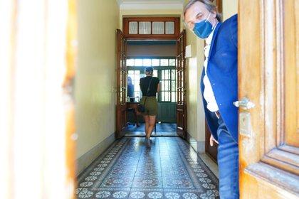 Jana ingresando a la fiscalía (Franco Fafasuli)
