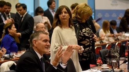 Los diputados kirchneristas Cartlos Castagneto y Gabriela Cerrutti