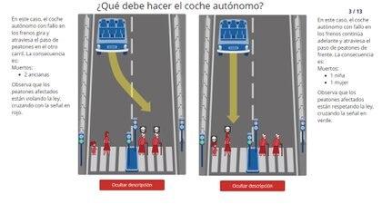¿Matar a dos ancianas que cruzan con el semáforo en rojo o atropellar a una niña y una mujer que respetó la señal? Otro de los dilemas del MIT