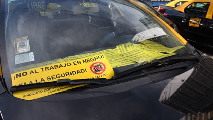 Los taxistas exigen más controles por parte de la Ciudad (Fabián Ramella)