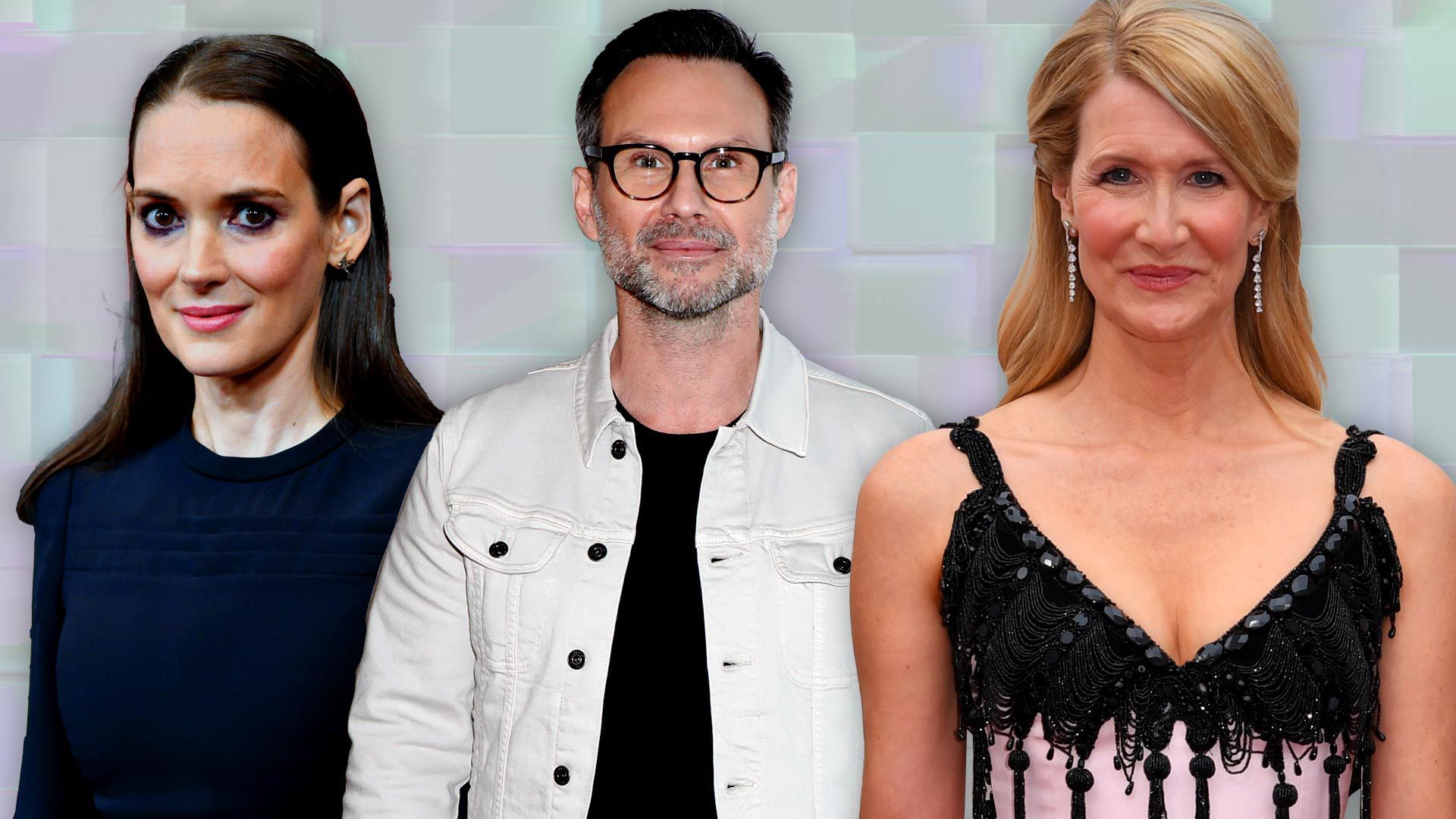 Winona Ryder, Christian Slater y Laura Dern.