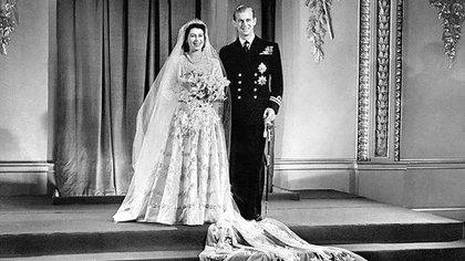 El casamiento de la reina Isabel y Felipe