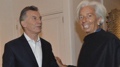 Mauricio Macri y Christine Lagarde, durante el último encuentro en la quinta de Olivos