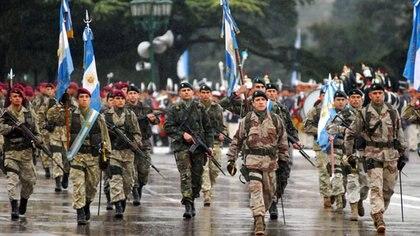 Vista general del Desfile del Ejército Argentino