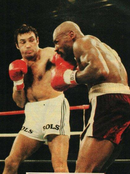 La recordada pelea de Martillo Roldan contra Hagler