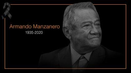 Murió Armando Manzanero, la madrugada  de este 28 de diciembre, víctima del COVID-19 (Imagen: INFOBAE)