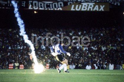 Una foto que tomó Richard Alfieri en un partido en el Maracaná entre Brasil y Chile: fue clave para descubrir un fraude