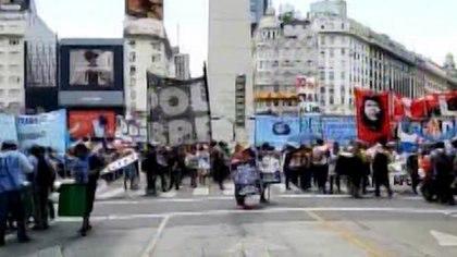 La protesta frente al Obelisco duró 3 horas